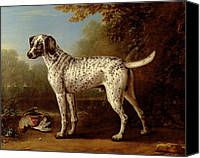 Pheasant Painting Canvas Prints - Grey spotted hound Canvas Print by John Wootton