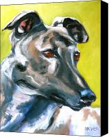 Greyhound Canvas Prints - Greyhound Canvas Print by Susan A Becker