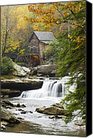 Autumn Leaves Canvas Prints - Grist Mill No. 2 Canvas Print by Harry H Hicklin