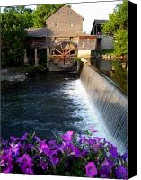 Old Mill Pigeon Forge Canvas Prints - Grist Mill Canvas Print by Scott Childress