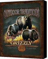 Montana Canvas Prints - Grizzly Traditions Canvas Print by JQ Licensing