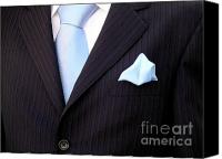 Black Tie Photo Canvas Prints - Grooms Torso Canvas Print by Carlos Caetano