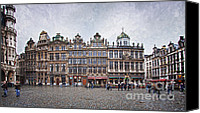 Brussels Canvas Prints - Grote Markt III Canvas Print by Joan Carroll