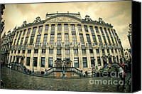 Brussels Canvas Prints - Grote Markt Canvas Print by Joan Carroll