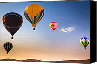 Hot Air Balloon Canvas Prints - Group of balloons Canvas Print by Inge Johnsson