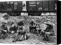 Boxcar Canvas Prints - GROUP OF HOBOES, 1920s Canvas Print by Granger