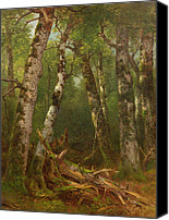 Forest Floor Painting Canvas Prints - Group of Trees Canvas Print by Asher Brown Durand