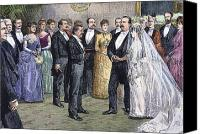 First Couple Canvas Prints - Grover Cleveland: Wedding Canvas Print by Granger