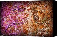 Writer Canvas Prints - Grunge Background 3 Canvas Print by Carlos Caetano