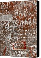 Writing Canvas Prints - Grunge Background Canvas Print by Carlos Caetano