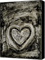 Friends Canvas Prints - Grunge Heart Canvas Print by Frank Tschakert