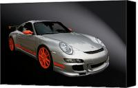 Hot Rod Car Canvas Prints - Gt3 Rs Canvas Print by Bill Dutting