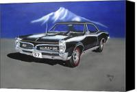 Gto Painting Canvas Prints - Gto 1967 Canvas Print by Thomas J Herring