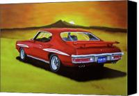 Gto Painting Canvas Prints - Gto 1971 Canvas Print by Thomas J Herring