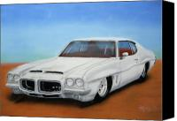 Gto Painting Canvas Prints - GTO 1972 Sitting Low Canvas Print by Thomas J Herring