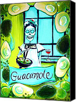 Salsa Canvas Prints - Guacamole Canvas Print by Heather Calderon