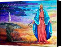 Virgen De Guadalupe Canvas Prints - Guadalupe de la Frontera Canvas Print by Candy Mayer
