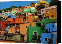 Portal Canvas Prints - Guanajuato Hillside 1 Canvas Print by Olden Mexico