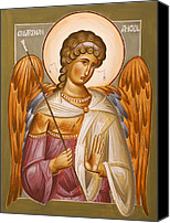 Icon Byzantine Canvas Prints - Guardian Angel Canvas Print by Julia Bridget Hayes