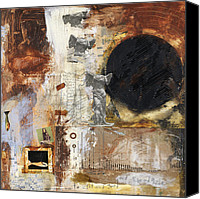 Raw Mixed Media Canvas Prints - Guardian Angel Canvas Print by Michel  Keck