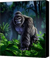 Jungle Canvas Prints - Guardian Canvas Print by Jerry LoFaro
