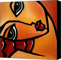 Picasso Painting Canvas Prints - Guess What Canvas Print by Tom Fedro - Fidostudio