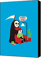 Cartoon Canvas Prints - Guess Who Canvas Print by Budi Satria Kwan