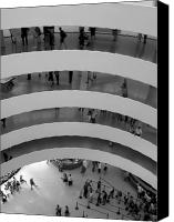 Guggenheim Canvas Prints - Guggenheim Interior Canvas Print by Vijay Sharon Govender