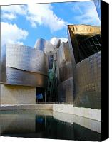 Guggenheim Canvas Prints - Guggenhiem 2 Bilboa Spain Canvas Print by Paul Basile