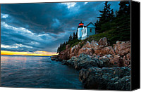 Acadia Canvas Prints - Guiding Light of Acadia Canvas Print by Bernard Chen
