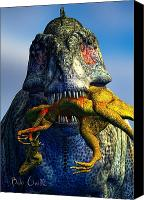 T Rex Canvas Prints - Guilty Pleasure Canvas Print by Bob Orsillo
