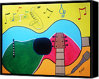 Fine Art Photography Painting Canvas Prints - Guitar Love Canvas Print by Manfred Schaefer