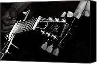 Music Photo Canvas Prints - Guitarist Canvas Print by Stylianos Kleanthous