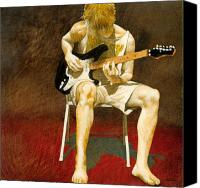 Guitar Player Canvas Prints - Guitarman... Canvas Print by Will Bullas