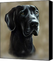 Great Dane Canvas Prints - Gulliver Canvas Print by Barbara Hymer