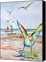 Carlin Blahnik Painting Canvas Prints - Gulls Canvas Print by Carlin Blahnik