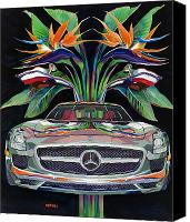 Wing Mirror Canvas Prints - Gullwing Birds of Paradise Canvas Print by Mike Hill