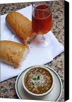Gumbo Canvas Prints - Gumbo Lunch Canvas Print by KG Thienemann