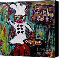 Gumbo Canvas Prints - Gumbo Ya Ya Canvas Print by Sharon Furrate