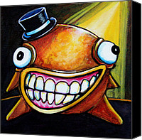 Fantasy Creatures Canvas Prints - Gummy Stage Glob Canvas Print by Leanne Wilkes