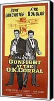 1957 Movies Canvas Prints - Gunfight At The O.k. Corral, Burt Canvas Print by Everett