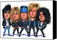 And Canvas Prints - Guns N Roses Canvas Print by Art  