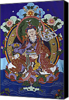 Thangka Canvas Prints - Guru Rinpoche Canvas Print by Leslie Rinchen-Wongmo