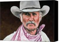 Cowboy Canvas Prints - Gus McCrae Texas Ranger Canvas Print by Rick McKinney