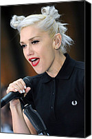 Appearance Canvas Prints - Gwen Stefani On Location For The Nbc Canvas Print by Everett