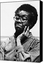 1980s Canvas Prints - Gwendolyn Brooks 1917-2000, American Canvas Print by Everett