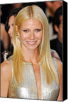 Gold Earrings Photo Canvas Prints - Gwyneth Paltrow Wearing Louis Vuitton Canvas Print by Everett