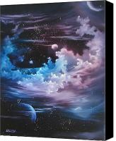 Angel Blues  Painting Canvas Prints - h2o Vapor Canvas Print by David Gazda