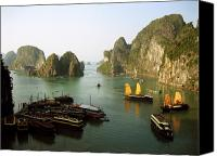 Unique Art. Photo Canvas Prints - Ha Long Bay Canvas Print by Oliver Johnston