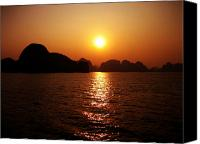 Unique Art. Photo Canvas Prints - Ha Long Bay Sunset Canvas Print by Oliver Johnston